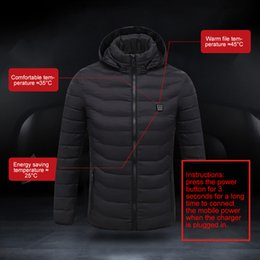 heated jackets NZ - New Adjustable USB Electric Heated Outwear Outdoor Skiing Temperature Coats Winter Warm Waterproof Hiking Mountaineering Hoodie
