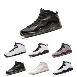 0d1e5be2f89c Newest 10 10s I m back White Black Cool Grey Bobcats Chicago Steel Grey Men Basketball  Shoes 10 Sneakers size eur 41-47