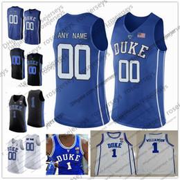 0d910f89b Personalizado Duke Blue Devils College Basketball black royal white  Cualquier nombre Número 3 Tre Jones Rojizo Williamson Barrett Bolden 2019  NCAA