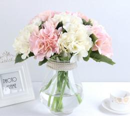 $enCountryForm.capitalKeyWord Australia - Artificial Flowers Cheap Silk Hydrangea Bride Bouquet Wedding Home New Year Decoration Accessories for Vase Artificial Flower for Decoration