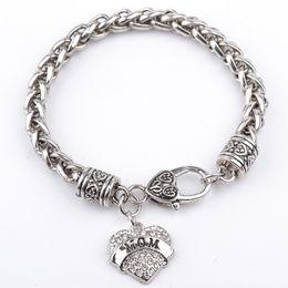 $enCountryForm.capitalKeyWord Australia - Letters Heart Charm Bracelet MOM Daugther SISTER MIMI NANA Best Friend Family Member Heart Bracelet Women Jewelry Gift Cheap DHL FREE