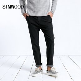 simwood clothing 2019 - SIMWOOD 2019 Winter New Jeans Men Fashion Slim Fit Ankle-Length Pants Dark Washed Trousers High Quality Brand Clothing 1
