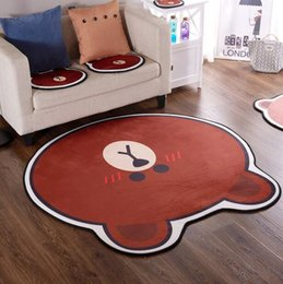 padded baby play mat 2019 - Brown bear cartoon Carpet Rug Baby Quilted Play Mats adorable slip resistant Rugs Kids Room Decoration living Room chair