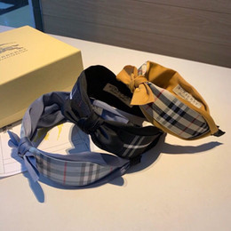 Headbands Bow Australia - Spring summer 2019 new headband, sweet bow heavy industry custom style, plaid pattern, durable and versatile, suitable for various occasions