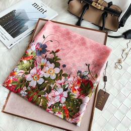 Опт 2019 Luxury Royal бренд дизайнер одежды шарф% 100 длинный шелковый шарф 180 * 90 см отличное качество мода классический стиль весна лето печать шарф