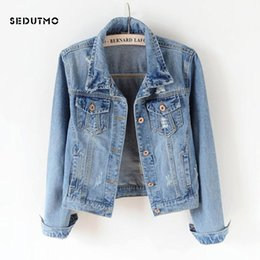 streetwear jackets NZ - Sedutmo 2018 Plus Size 5xl Denim Jacket Women Boyfriend Jean Coat Streetwear Harajuku Vintage Autumn Basic Outerwear Ed198 T190730