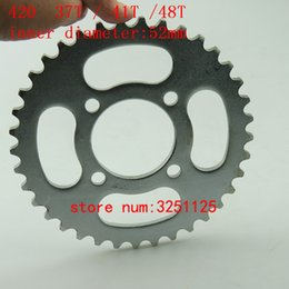 teeth gear NZ - motorcycle scooter drive gear 420 37T 41T 48T tooth 52mm  152mm rear chain sprockrts for Chinese ATV Quad Pit Dirt Bike Buggy