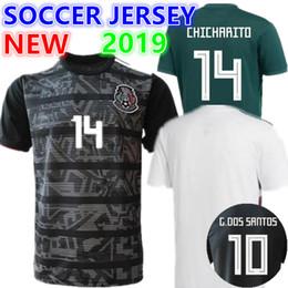 5ace4197d05 Mexico 19-20 Away Black mens 9 R.Jimenez 14 J.Hernandez 10 J.Dos Santos 19  O.Peralta 22 H. Lozano Customized Thai Quality Soccer Jerseys
