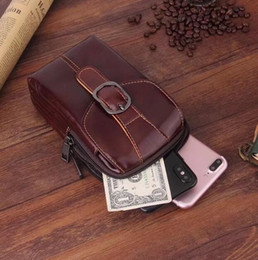 $enCountryForm.capitalKeyWord NZ - Belt Clip Man Genuine Cow Leather Mobile Phone Case Pouch For BlackBerry Motion For Xiaomi Mi A1 Redmi Note 5 Pro