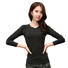 96e80805500 Inner Layer Fitness Sport Shirt Quick Dry Women long Sleeves Top Gym  jogging lady T-shirt Train Workout Clothing Yoga Shirt
