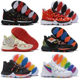 $enCountryForm.capitalKeyWord NZ - 2019 Kyrie Taco Black Magic Sky star Mens Kids Basketball Shoes 5s 5 Men Rainbow Black White Sports Sneakers