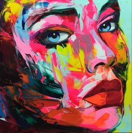$enCountryForm.capitalKeyWord Australia - Francoise Nielly Palette Knife Impression Home Artworks Modern Portrait Handmade Oil Painting on Canvas Concave and Convex Texture Face004