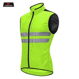 motorcycle jacket vest NZ - WOSAWE Motorcycle Vest High Visibility Jackets Motocross Riding Off-Road Safety Vest Night Running Cycling Sports 5 Sizes