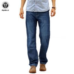 $enCountryForm.capitalKeyWord UK - RUELK 2019 Men Jeans Business Casual Straight Slim Fit Blue Jeans Stretch Denim Pants Trousers Classic Big Size 27-48