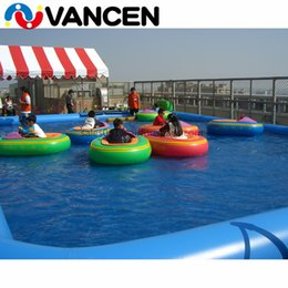 Bumper Pool Australia - Hot sale kids paddle boat with pool, 10*6*0.65m inflatable swimming pools with rides bumper boat, swimming pool paddle boat