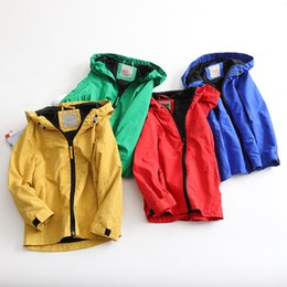 spring boys jackets NZ - New Spring Summer Baby Boy Hooded Coat Clothes Children Boy Zip Outwear Sporty Kids Waterproof Windproof Jackets For Boys