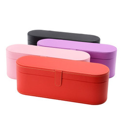 Square red Storage box online shopping - Hair Dryer Gift Box PU Leather Storage Case Original Special Use Boxes Red Black Durable Creative xh C1