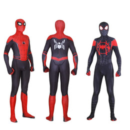 $enCountryForm.capitalKeyWord NZ - New Spider Man Far From Home Cosplay Costumes Peter Parker Zentai Suit Bodysuit Adult Kids Ball Jumps