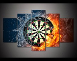 Oil Fire NZ - Darts Fire,5 Pieces Canvas Prints Wall Art Oil Painting Home Decor (Unframed Framed)