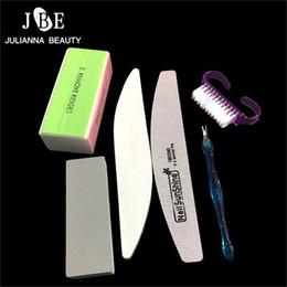 Art Combinations Australia - 6Pcs Set Random Combination Nail Buffer Professional Nail Files Manicure Set Art Kits Brushes Makeup Manicure Tools
