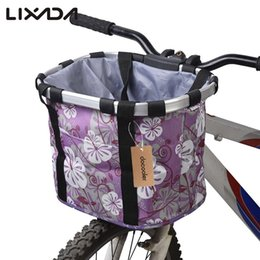 bicycle panniers front UK - Accessories Bags Panniers Lixada Bicycle Basket Pouch Bike Bags Bicycle Front Bag Pet Carrier Cycling Top Tube Frame Front Carrier