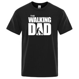 mens gold black shirts hip hop 2021 - Summer T-shirt The Walking Dad T Shirt Men Cool Casual Mens Tshirt Fashion Hip Hop Tops Streetwear Father's Day Gift Tee shirts