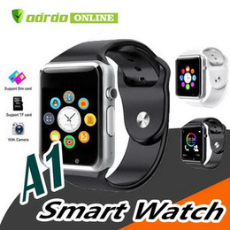 bluetooth smart watch sim Australia - A1 Bluetooth Smart Watch support SIM Card Slot Health Watchs for Android Samsung and IOS iphone Smartphone Bracelet Smartwatch