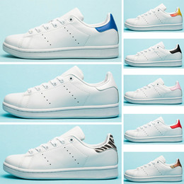 Chinese  Fashion Luxury Designer Flats Stan Casual Shoes Women Mens Smith Leather Zebra Flower Triple White Black Sports Sneakers 36-45 manufacturers