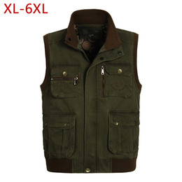 photographers multi pocketed waistcoat vest Canada - Classic Mens Vest with Many Pockets for Summer Casual Photographer Work Khaki Multi Pocket Sleeveless Jacket Waistcoats