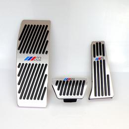 Aluminum Accelerator Pedal Australia - No Drill Gas Brake Pedal For BMW NEW 3 Series Auto Aluminum gas accelerator brake and foot rest pedals LHD AT With M logo