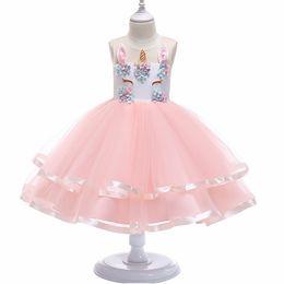 For Toddlers Australia - Flower Girls Unicorn Tutu Dress Pastel Rainbow for Wedding party Kids Dresses for Toddler Girl Fashion Christmas Clothing