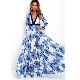 fea0a66872e Womens Long Maxi Party Dress Ladies Boho Summer Print Dress Robe longue femme  ete 2017 Plus size women clothing Dresses brazil