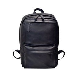 Men s Women s Fashion Backpack PU Leather Polyester Vintage Zipper Solid  Shoulder Bags Square sac a dos adolescent 540cfda058033