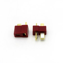 resin connectors NZ - 100Pcs lot T Plug Deans Connectors Set For RC LiPo Battery Helicopter Male Female Terminals Connectors Assortment Kit