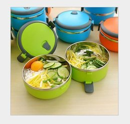 Green Box Containers Australia - kitchen stainless steel lunch box heated for kids food thermos containers organizer bento box packed lunch heated meal prep D19010902