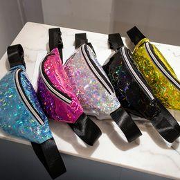 Pack Supplies Australia - 5styles Mermaid Glitter Waist Bag Sequin Fanny Pack Beach Travel shinning Girl Outdoor Cosmetic Bag party outdoor Sport coin handbag FFA1717