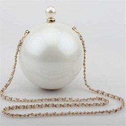 dark blue pearl chain UK - Designer-2016 Hot Fashion Luxury Pearl Party Globe Evening Bag Day Clutch Ladies Mini Handbag Chain Cross Body Shoulder Bag Purse Bolso