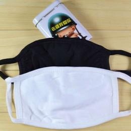 Venta al por mayor de El uso de ciclismo Anti-Polvo de la boca de algodón Mascarilla PM 2.5 Máscara Unisex Mujer Hombre Negro blanco de la manera libre del envío
