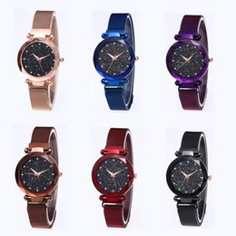 Wholesale New Color Lady Diamond Wrist Watch Women Starry Sky Fashion Quartz Watches Female Stainless Steel Wristwatches