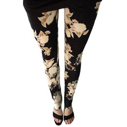 $enCountryForm.capitalKeyWord Australia - New Rose Flower Printed Leggings Fashion Sexy Women Lady Slim High Elastic Cotton Pants Multiple Colors Styles Trousers In Stock #400134