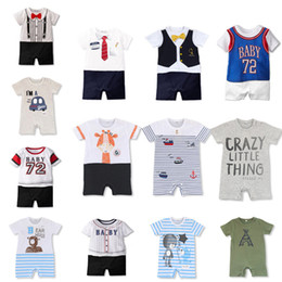 boys basketball shorts wholesale UK - New Summer Baby Boy girl clothes Short Romper Basketball Uniform Toddler Kids Print Onesie Baseball Sport Style Jumpsuit Infant Outfits