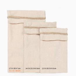 linen gift bag pouches Canada - 10pc lot Flip Cotton Linen Debris Cloth Gift Bag Travel Storage Bags Jewelry Packaging Bags Pouch