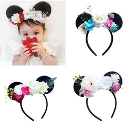 Dance Hair Australia - New Europe Baby Girl Hair Clasp Cartoon Flowers Hair Hoop Kids Hairband Headband Princess Child Dance Performance Accessory 14963