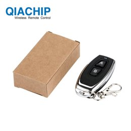 ev1527 learning remote control NZ - QIACHIP 433 MHZ RF Remote Control Learning Code 1527 EV1527 For Gate Garage Door Controller 433mhz Receiver Included Battery D