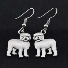 Old Fashioned Gifts Australia - Vintage Silver Old English Sheepdog Drop Earrings Brincos Big Earrings For Women Earings Fashion Jewelry Pendientes Bijoux Femme Best Gift