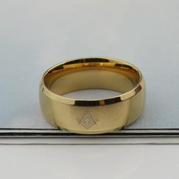 $enCountryForm.capitalKeyWord Australia - Wholesale black masonic rings for men stainless steel charm man wedding jewelry cocktail accessories