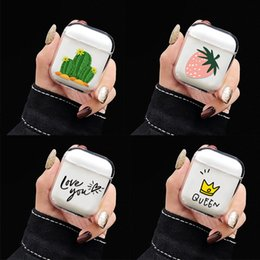 $enCountryForm.capitalKeyWord Australia - Transparent Earphone Cases For Apple AirPods 2 Charging Box Cute Cartoon Cactus Girl Hard PC Crystal Cover Bag For Airpods Cases