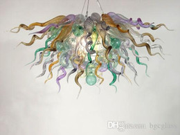 Artist Pendants NZ - Modern Crystal Hand Blown Glass Chandelier Light Customized Murano Glass Hanging LED Artist Designed Chihuly Style Glass Pendant Lamps