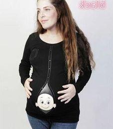 $enCountryForm.capitalKeyWord Australia - Funny Pregnancy PLUS SIZE PREGNANT WOMEN LONG SLEEVE T-SHIRT