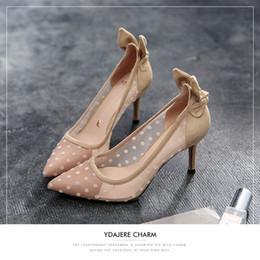 $enCountryForm.capitalKeyWord Australia - Attractive2019 Beautiful Generation Single Shoe Woman Fine With Sexy Gauze Sharp High-heeled Shoes Bow 17797